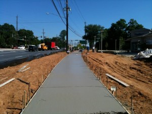 JMR Concrete installs Sidewalk at Suntrust Bank