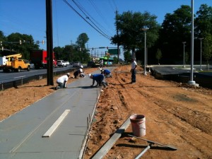 JMR Concrete installs Concrete Sidewalk at Suntrust Bank